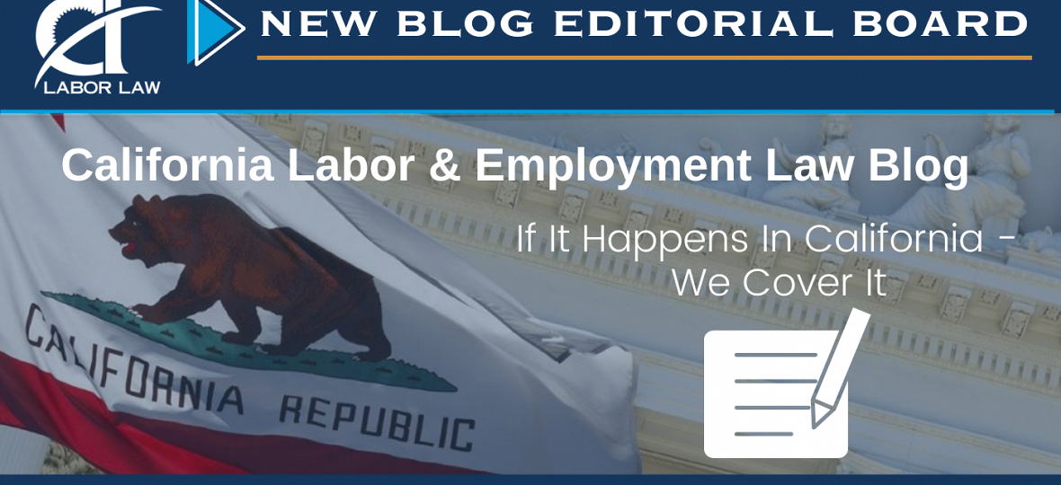 CDF Expands Editorial Board for its California Labor and Employment Law Blog