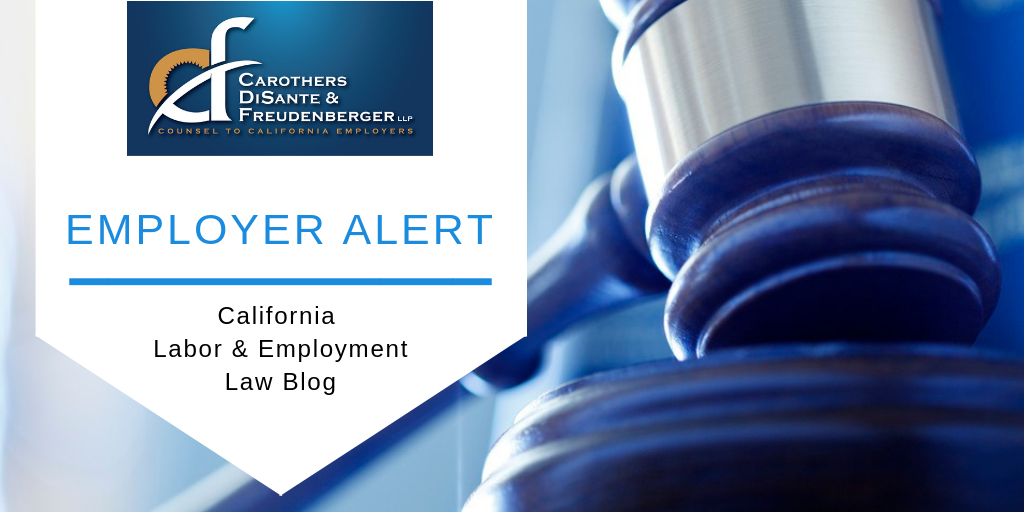 California Legislative Update:  Here Are the New Employment-Related Laws for 2019